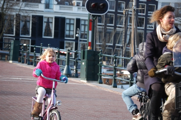 Amsterdam cycle chic girl by Joni