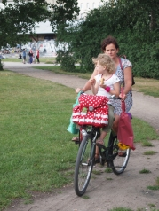 Cycling together in the park