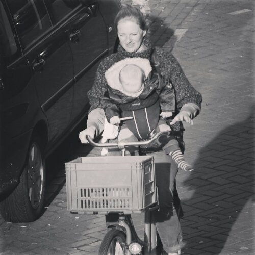 Family cycling - Amsterdam