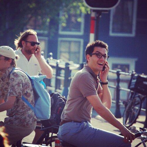 Guys on bikes